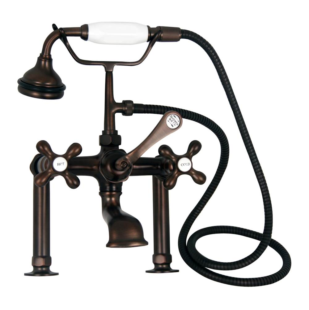 Barclay Deck Mount Roman Tub Faucets With Hand Showers item 4601-MC-ORB