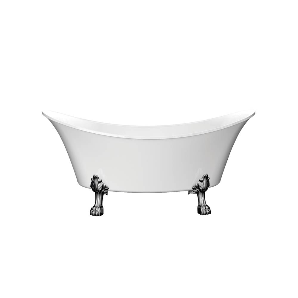 Barclay Free Standing Soaking Tubs item ATDSN68LP-WH-CP