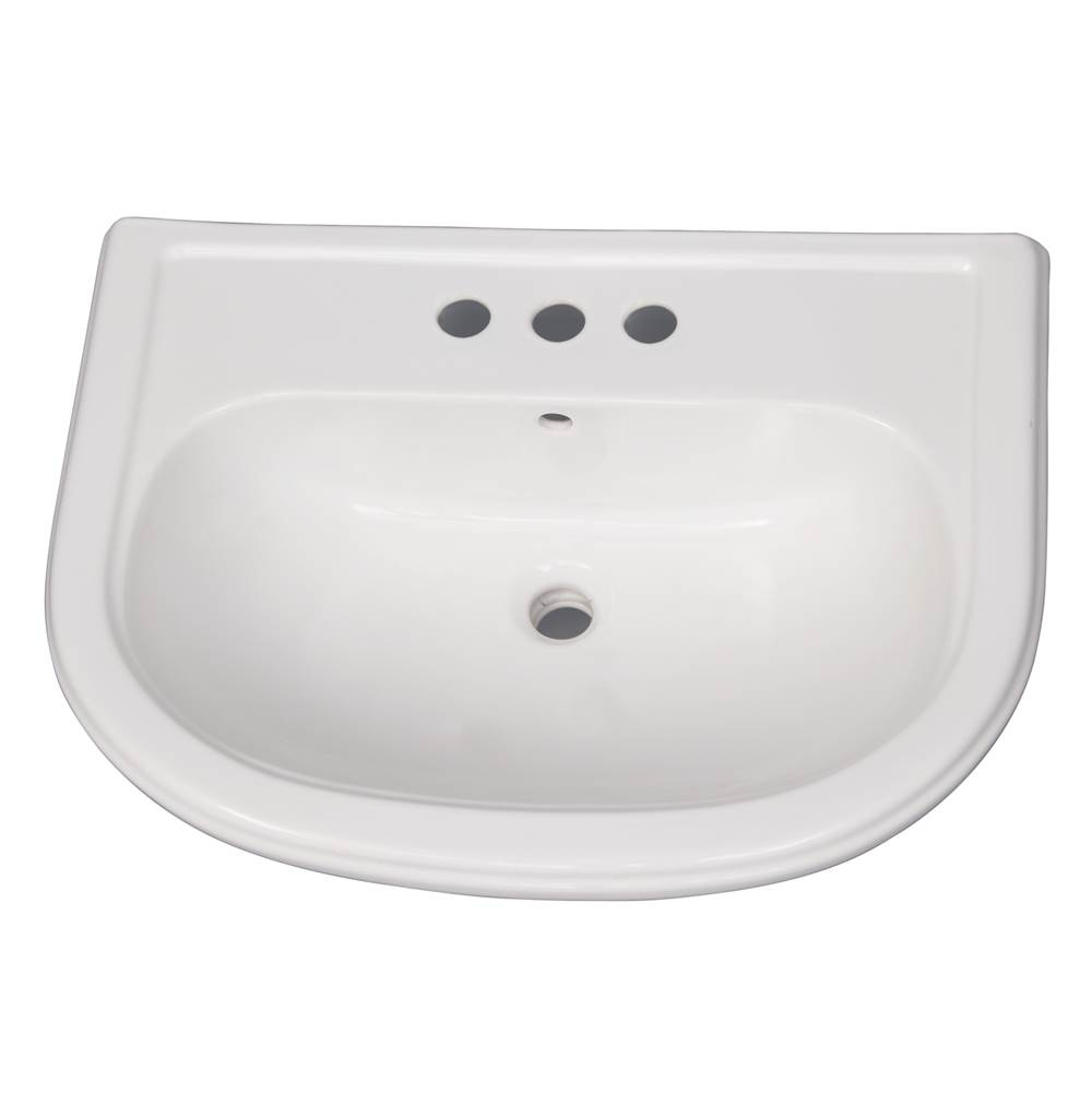 Barclay Vessel Only Pedestal Bathroom Sinks item B/3-1054WH