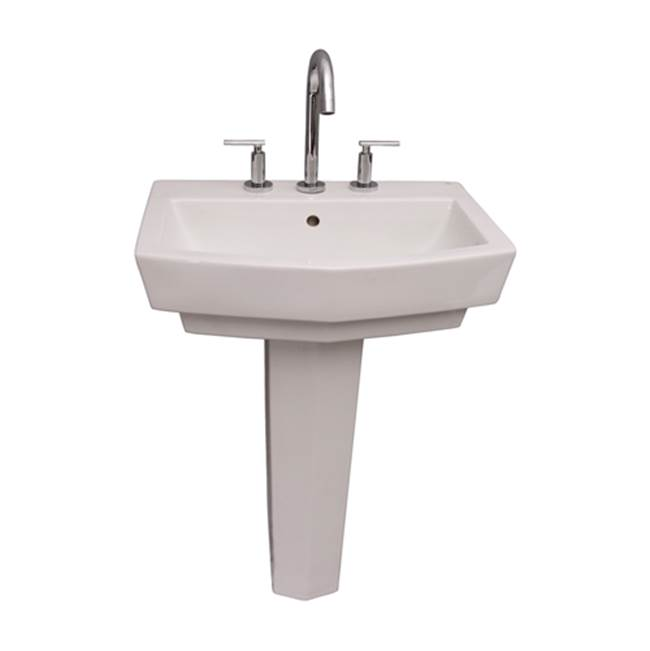 Barclay Vessel Only Pedestal Bathroom Sinks item B/3-788WH