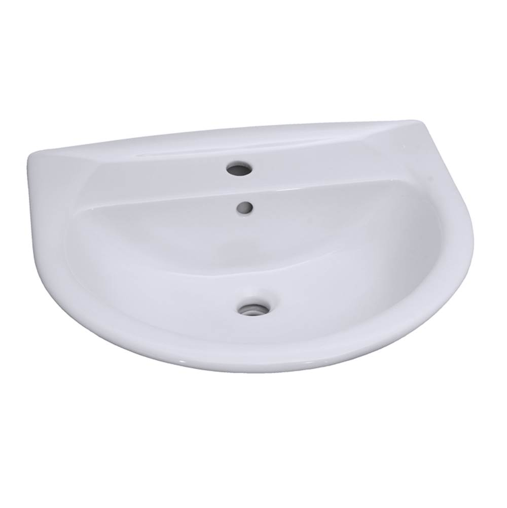 Barclay Vessel Only Pedestal Bathroom Sinks item B/3-351WH