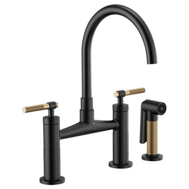 Brizo Deck Mount Kitchen Faucets item 62543LF-BLGL