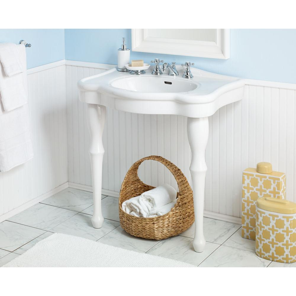 Cheviot Products Lavatory Console Bathroom Sinks item 707-WH-1
