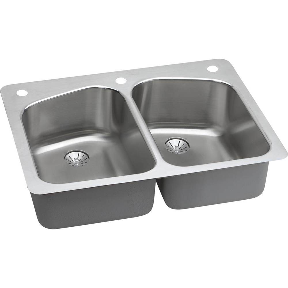Elkay Undermount Kitchen Sinks item LKHSR33229PD2R