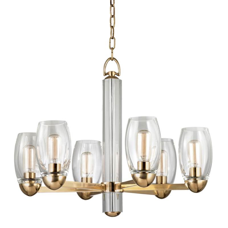 Hudson Valley Lighting Single Tier Chandeliers item 8846-AGB