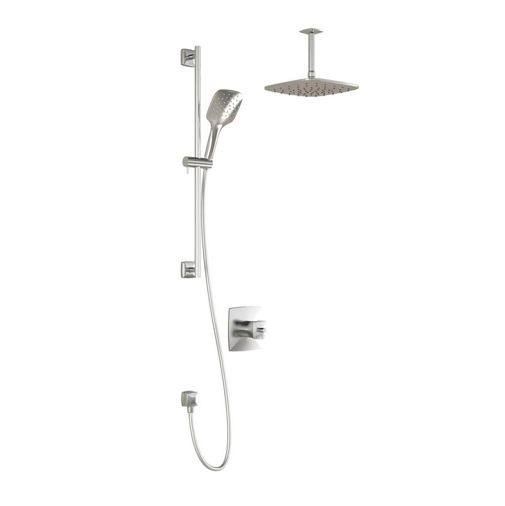 Kalia   BF1181 110 101   UMANI™ TCD1 PLUS : Thermostatic Coaxial Shower  System With Vertical Ceiling Arm Chrome