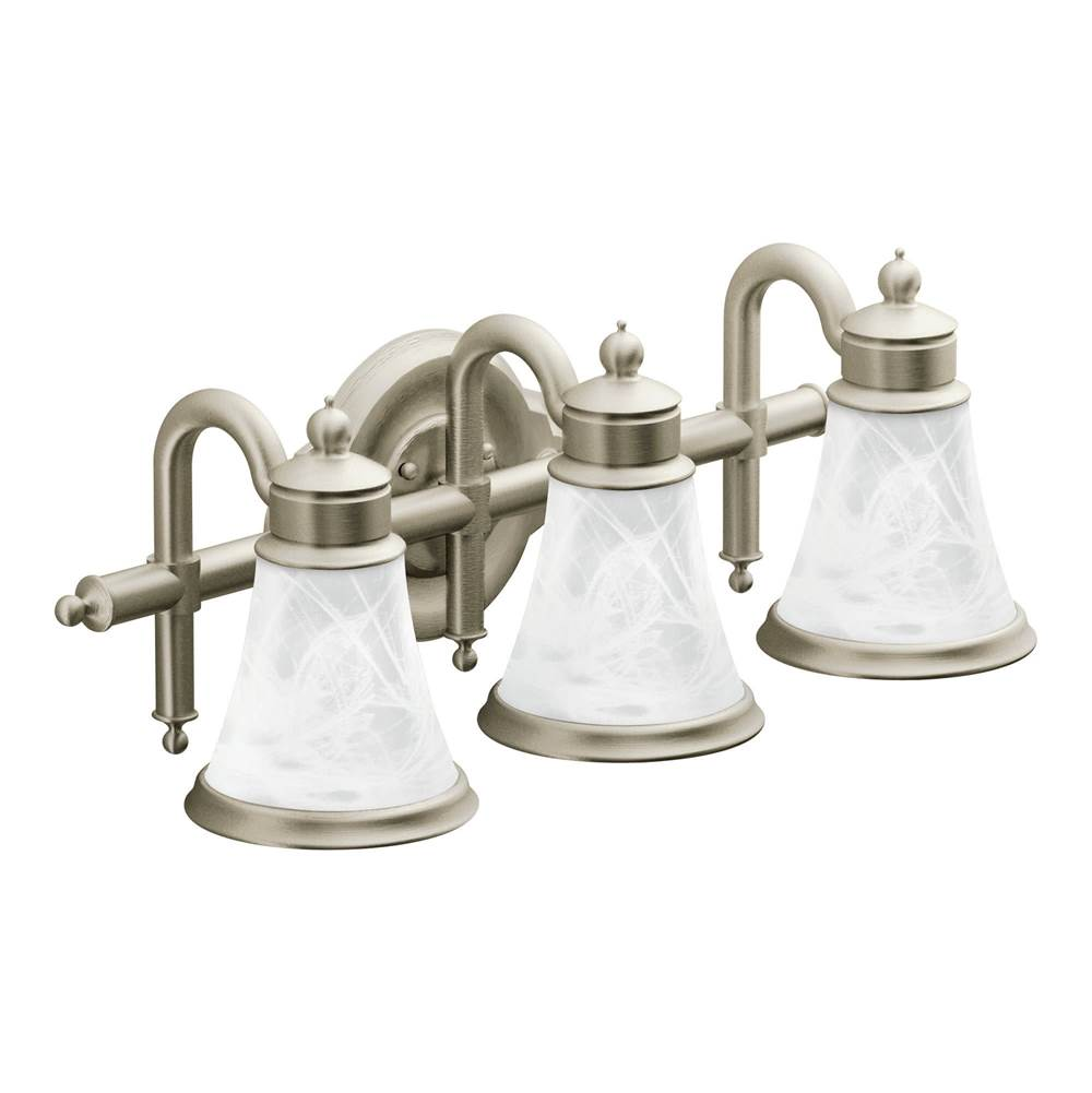 Moen Three Light Vanity Bathroom Lights item YB9863BN