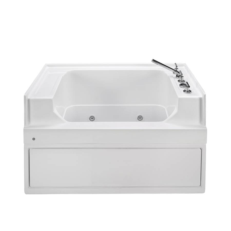 MTI Baths Three Wall Alcove Whirlpool Bathtubs item PET200WPC-BI