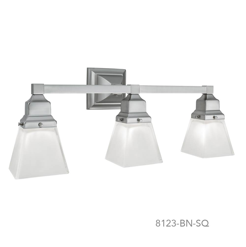 Norwell Three Light Vanity Bathroom Lights item 8123-CH-SQ