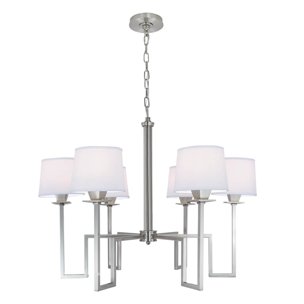 Norwell Single Tier Chandeliers item 9676-BN-WS