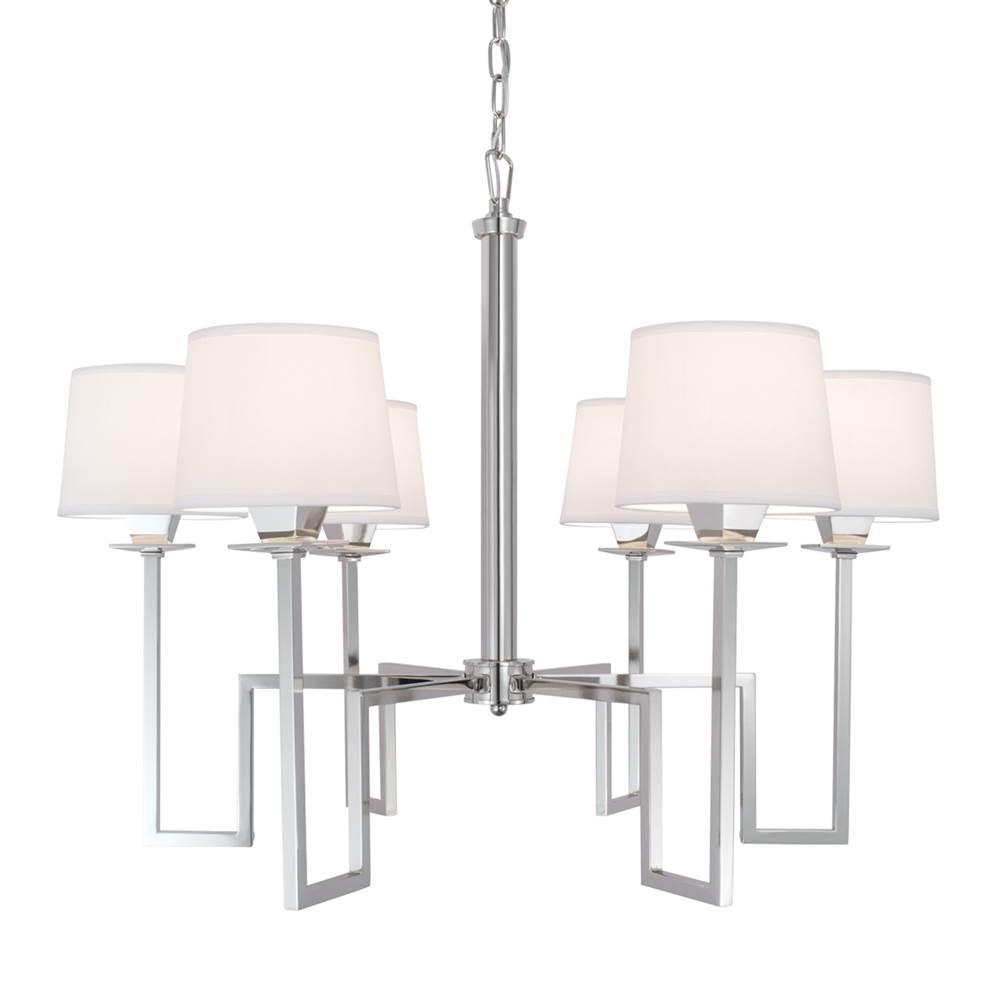 Norwell Single Tier Chandeliers item 9676-PN-WS