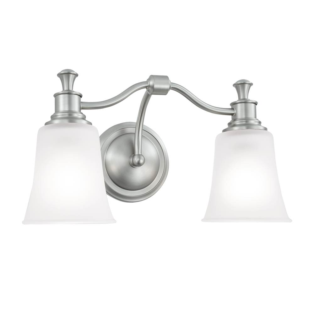 Norwell Two Light Vanity Bathroom Lights item 9722-BN-FR