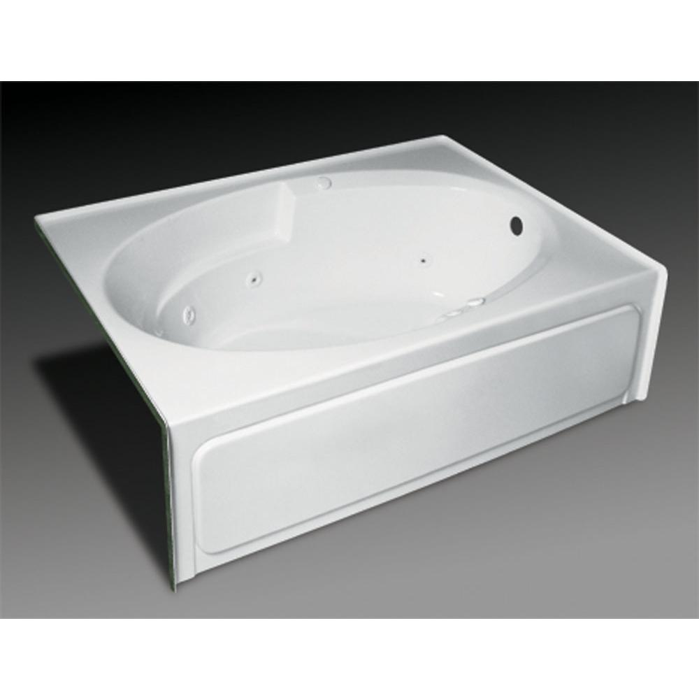Oasis Three Wall Alcove Soaking Tubs item OVG-S-310L WHT/CWS CHR