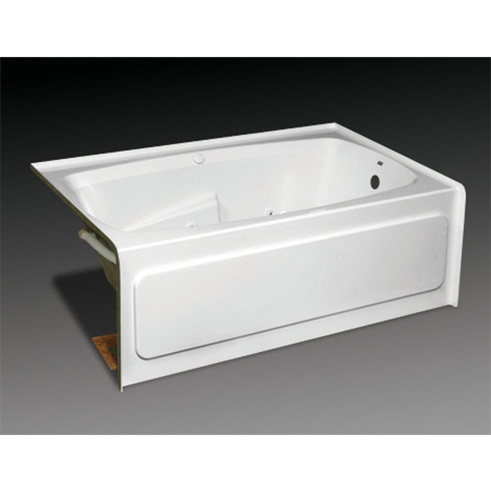 Oasis Three Wall Alcove Soaking Tubs item TR-S-240L WHT/6P WHT