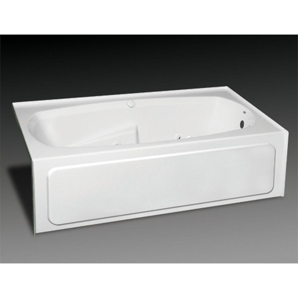 Oasis Three Wall Alcove Soaking Tubs item TRG-IF-200L WHT/CWS CHR