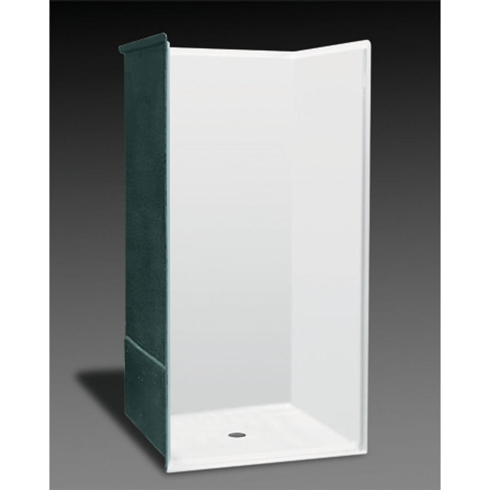 Oasis Alcove Shower Enclosures item SHFW-3837 WHT/3SF/ANS09-RS