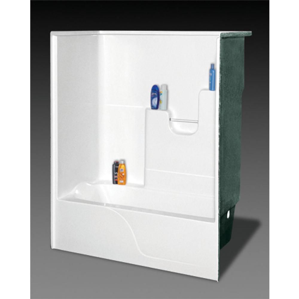 Oasis Alcove Shower Enclosures item TS-6032L WHT ABF/3SF/ANS09-FLD