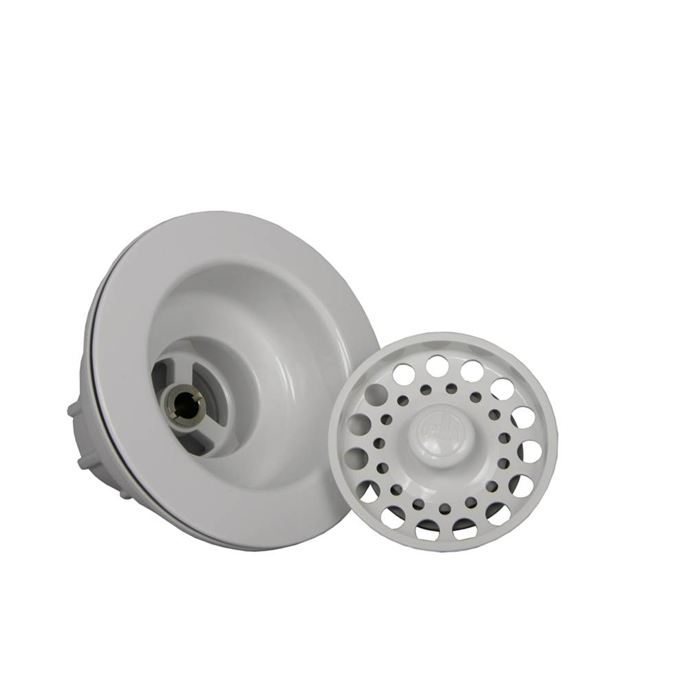 Opella   90066.31   Opella 90066 Series Kitchen Sink Strainer Euro White