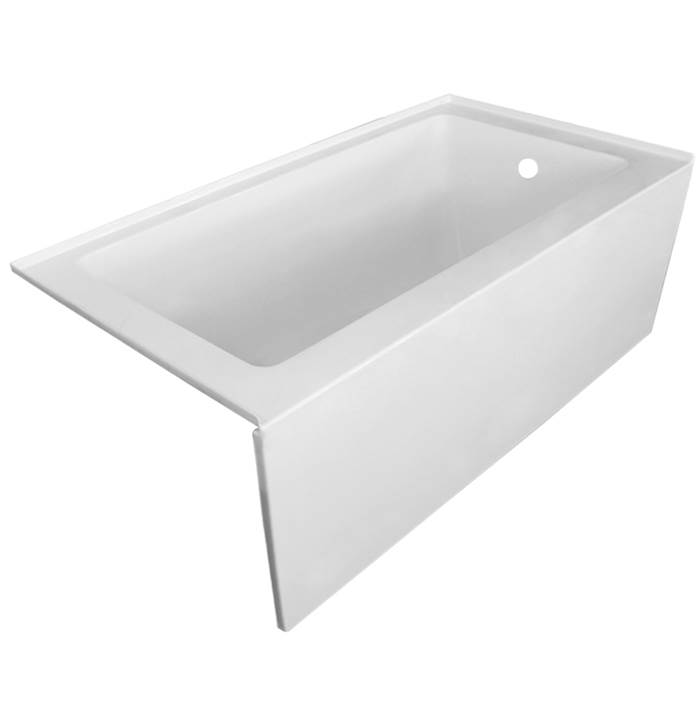 Valley Acrylic Three Wall Alcove Soaking Tubs item PESPACE5430SK-VHCS
