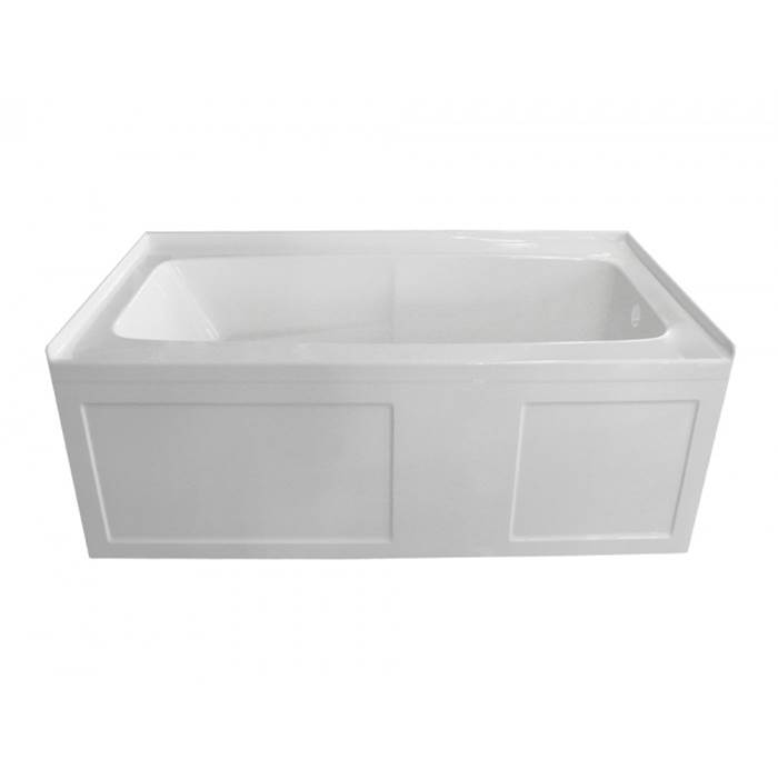 Valley Acrylic Three Wall Alcove Soaking Tubs item STARK2S6032SK-VHCR