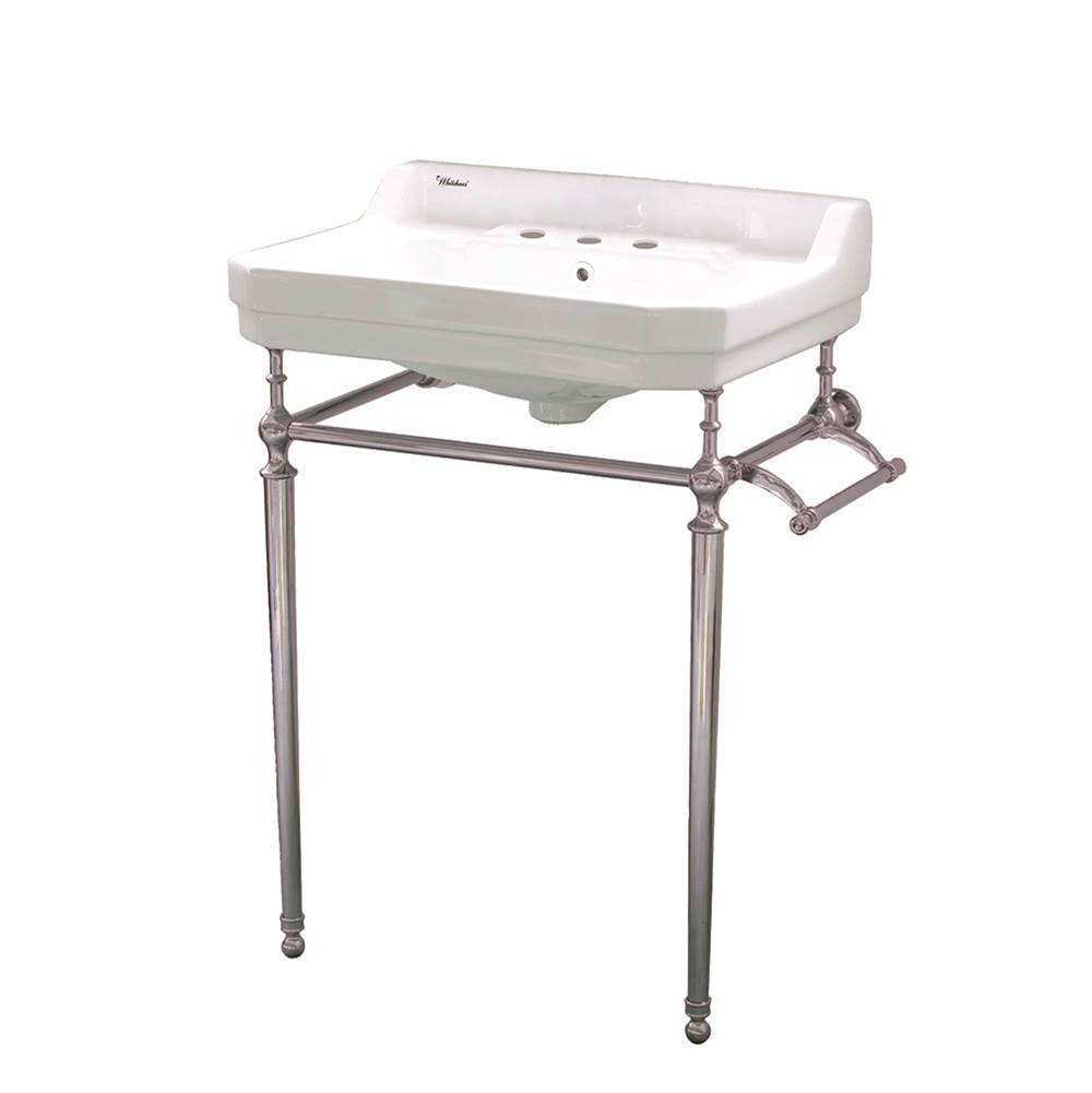 Whitehaus Lavatory Console Bathroom Sinks item WHV024-L33-3H-BN