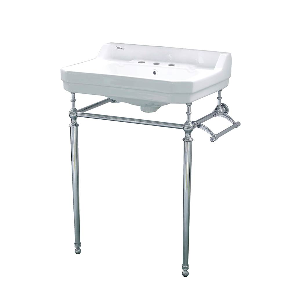 Whitehaus Lavatory Console Bathroom Sinks item WHV024-L33-3H-C